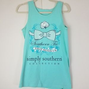 Simply sothern southern tie that binds us tank